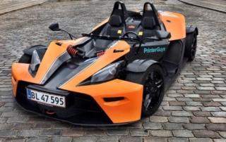 KTM X-Bow racer sponseret af PrinterGuys